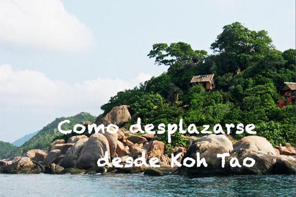 Como desplazarse desde Koh Tao