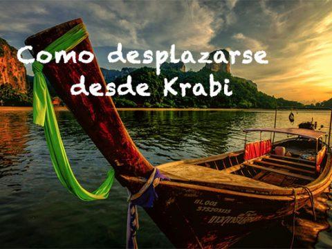 Como desplazarse desde Krabi